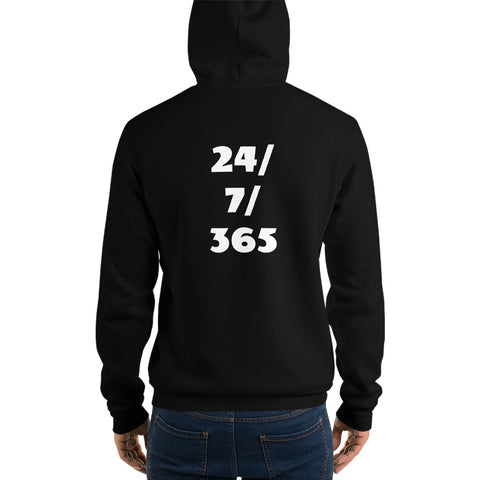 """24/7/365"" hoodie - Infinity Parkour"