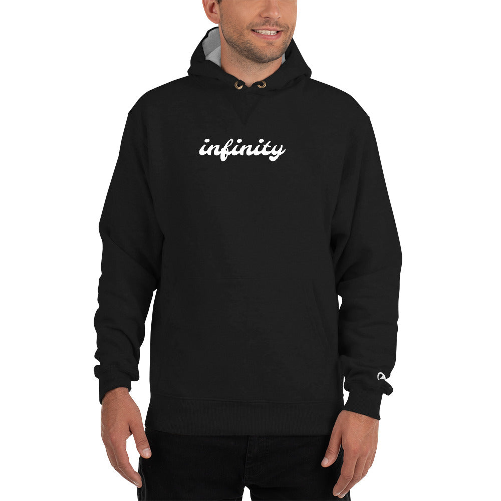 Cursive Infinity Hoodie by Champion - Worthmore Designs