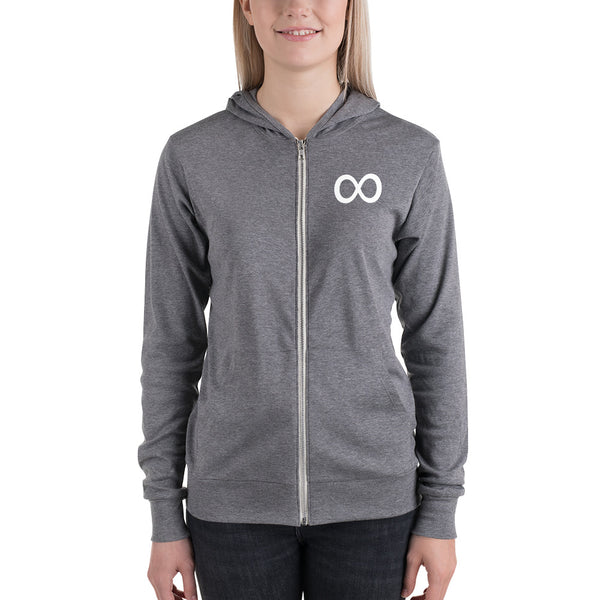 Forever in Style Lightweight Zip-Up Hoodie - Infinity Parkour
