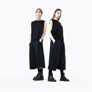 Japanese pants black unisex