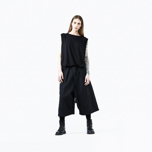 Japanese pants black front