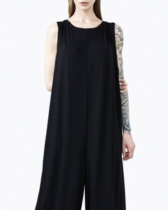 Jumpsuit woman black front