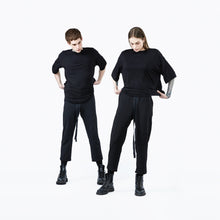 Straight trousers black unisex