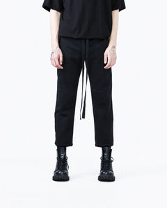 Straight trousers black man