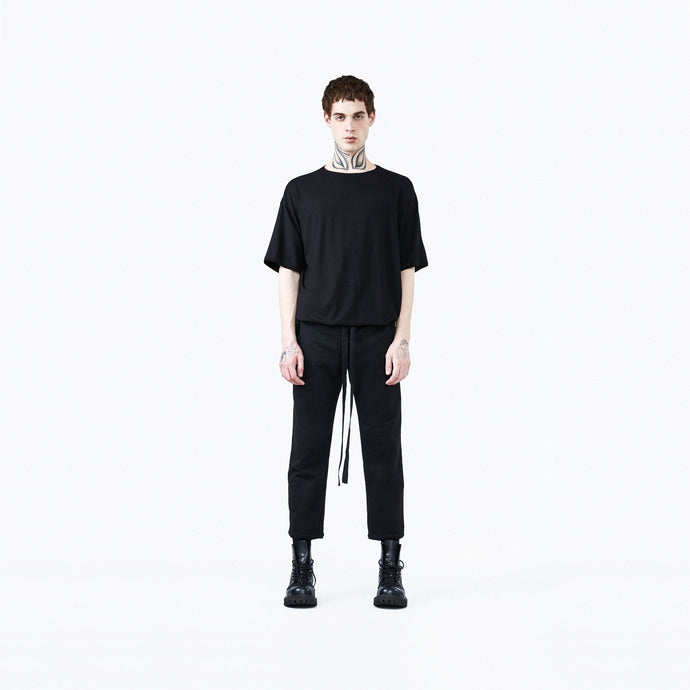 Straight trousers black man front