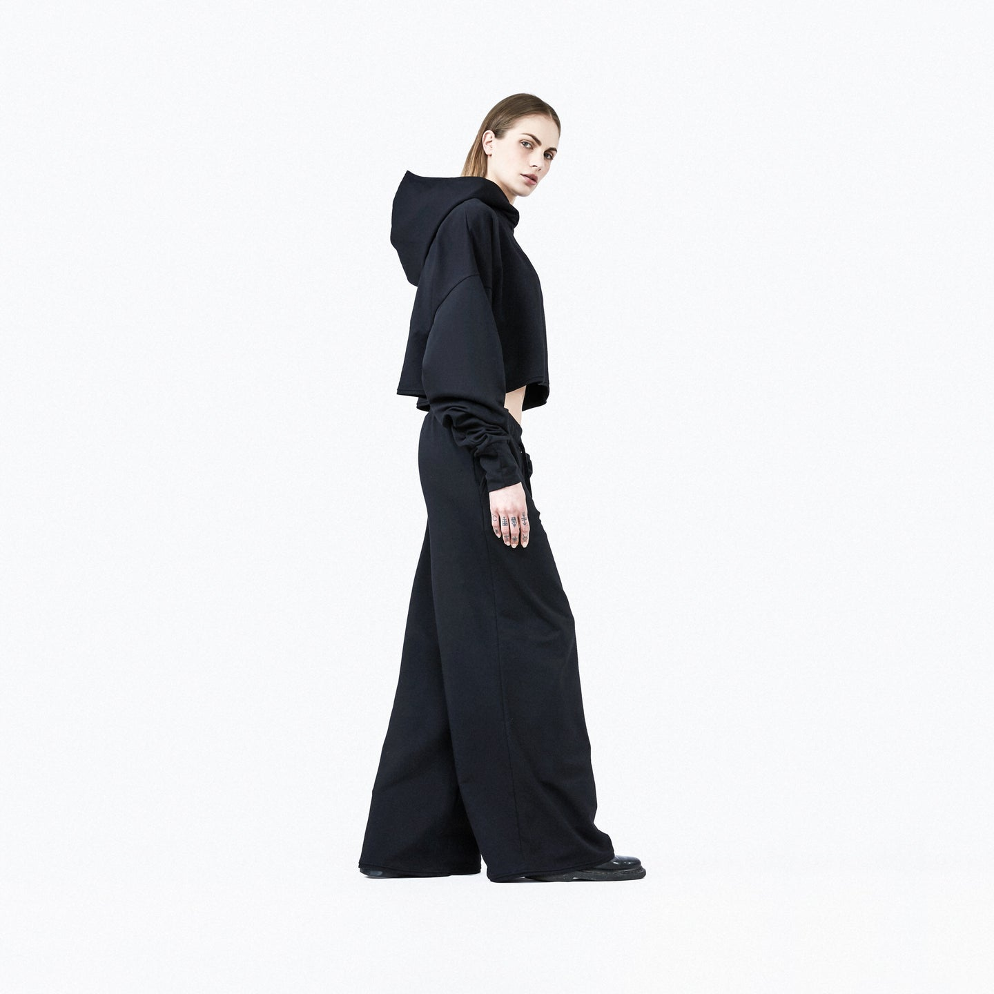 Wide leg pants black woman