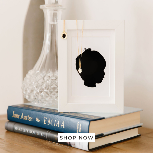 Silhouette Necklaces and Art Prints