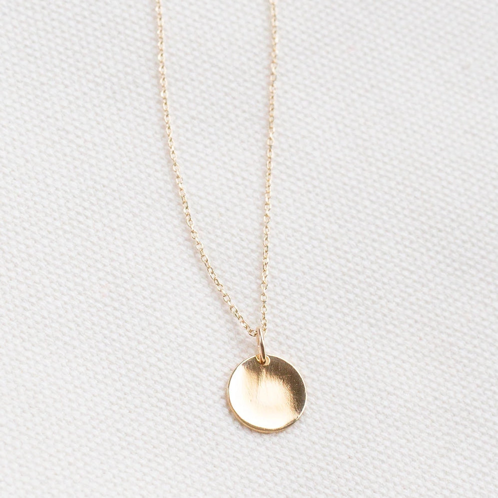 Solid Gold Custom Coin Necklace