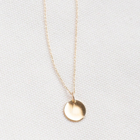 Custom Fingerprint Handprint Coin Necklace