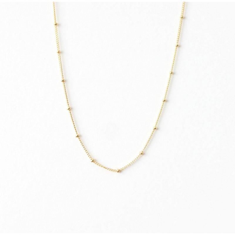 Minimal choker necklace in gold