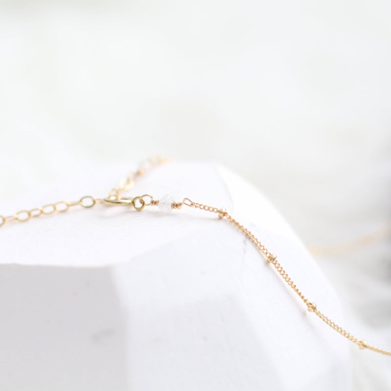 Handmade minimal gold choker necklace sustainably made in Canada