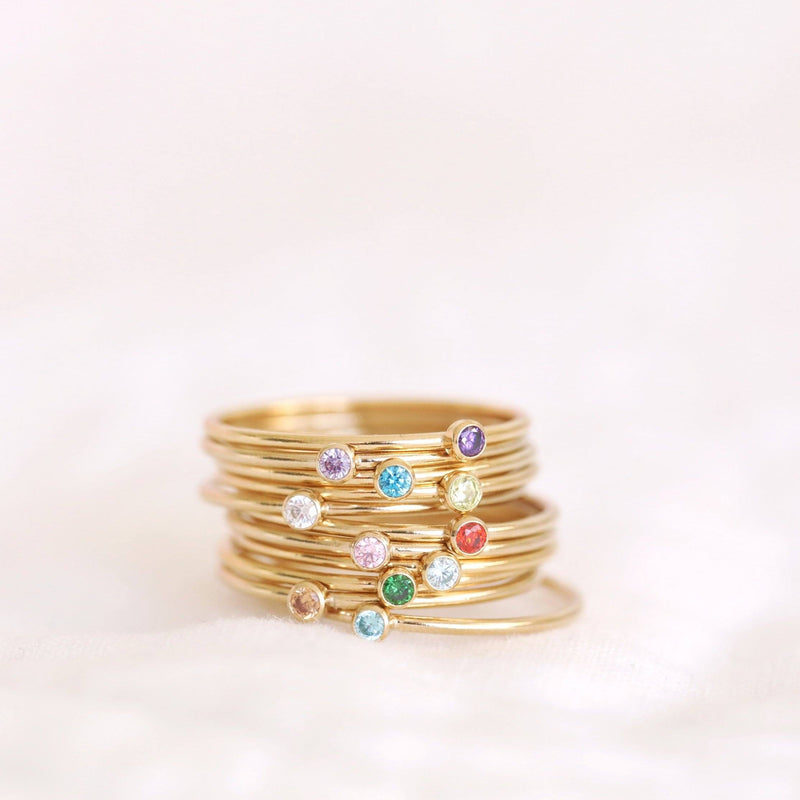 Handmade birthstone rings made with sterling silver and gold-filled, ethically and sustainably made birthstone rings made in Canada