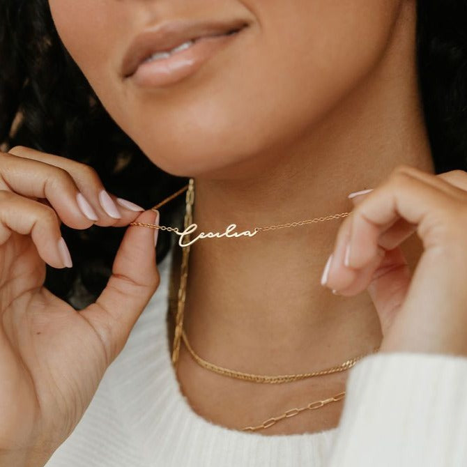 Custom Katherine Script Name Necklace