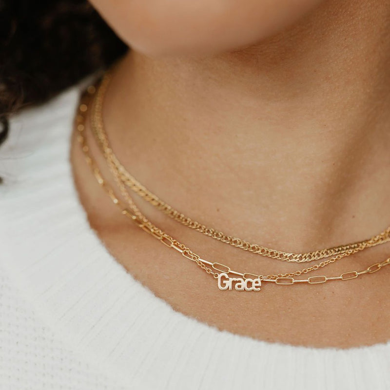 Custom Arial Name Necklace
