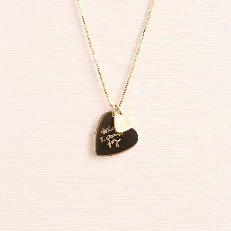 Custom handwriting necklace made in Canada