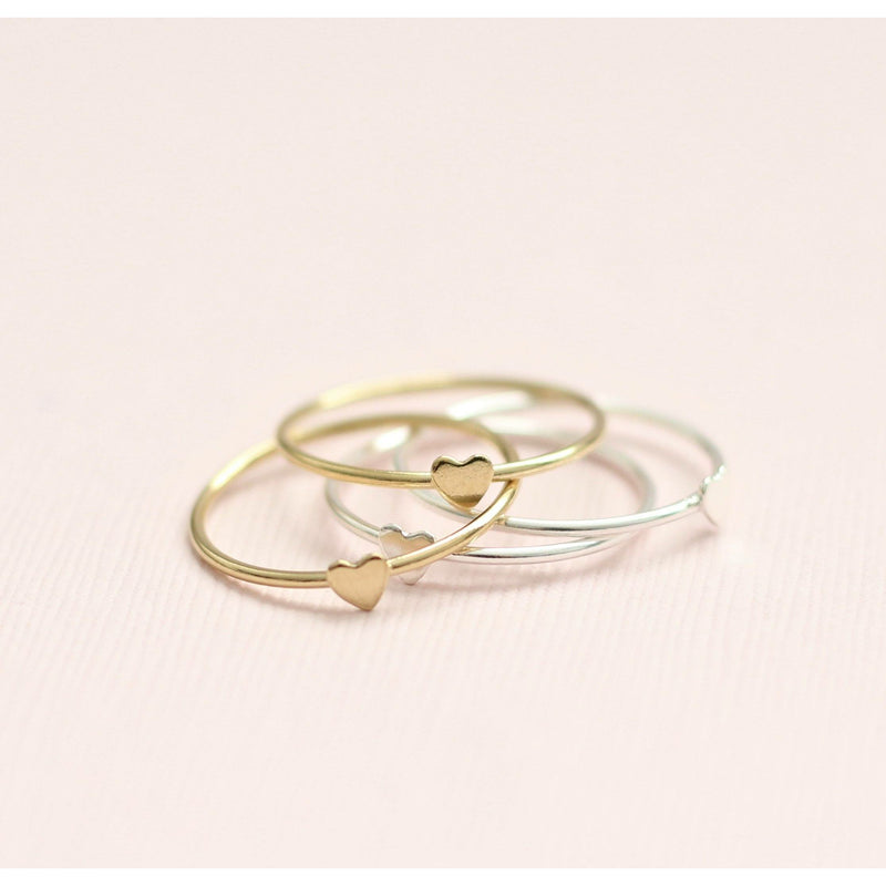 Selection of gold and silver stackable rings
