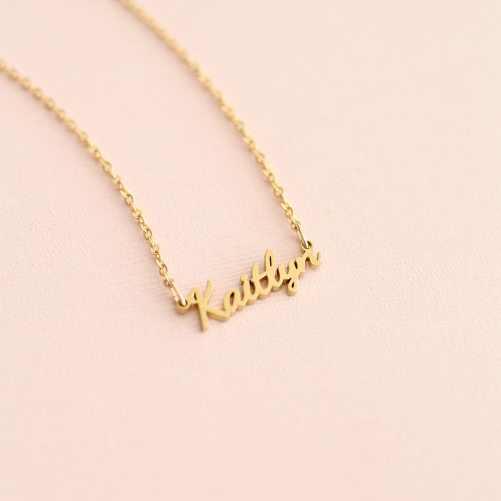Custom Dancing Script Name Necklace