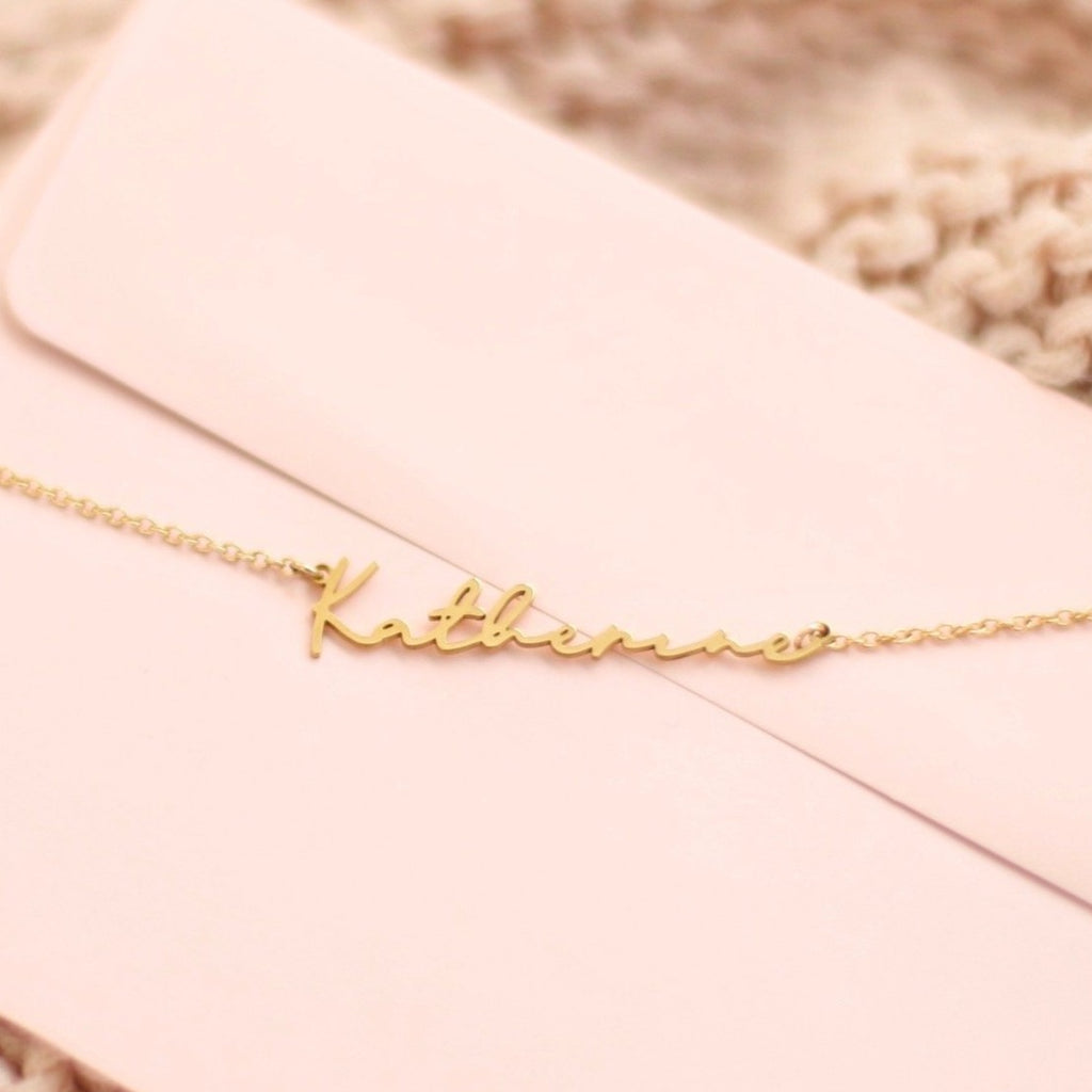 Cursive Name Necklace, Signature style name necklace, Script Font Necklace, Custom Name Necklace, Birthday gift for woman
