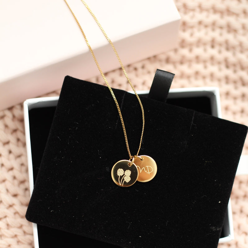 Actual Handwriting Coin Necklace