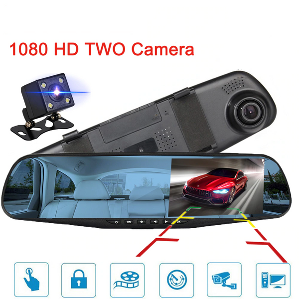 Full HD Smart Dash Cam / Rear Cam Mirror