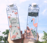 Flamingo Water Bottle (Milk Box Design)
