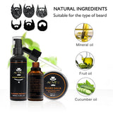 Beard Cleaning Set With Essential Oils and Shampoo