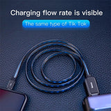 Glowing USB Data Cable and Fast Charger for iPhone Cable 8 7 6 Plus 6s 5s SE