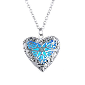 Luminous Hollow Love Heart Necklace