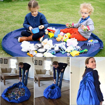 Portable Round Toy Storage Bag