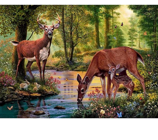 5D DIY Forest Deer Rhinestone Embroidery