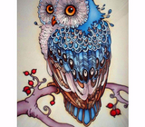 5D DIY Bright Owl Rhinestone Embroidery
