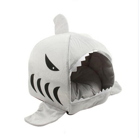 Fluffy Shark Tent for Large Dogs or Cats