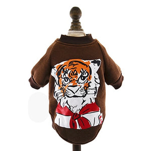 Cartoon Printed Pet Costumes for Dogs and Cats