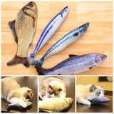 Plush Cat Fish Chew Toy
