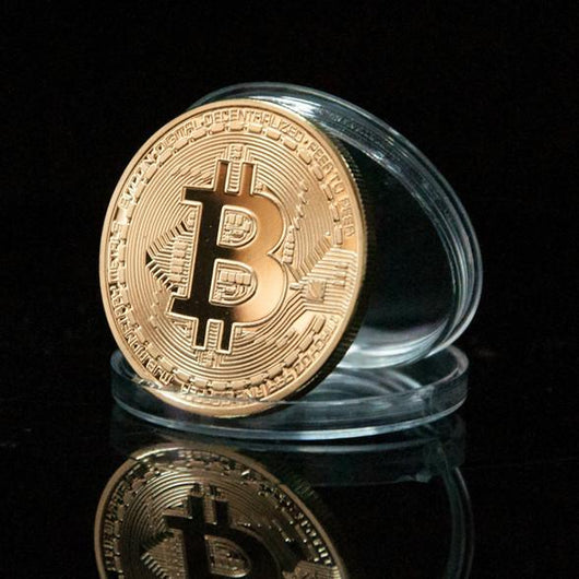 Gold Plated Bitcoin Coin Collectible With Case