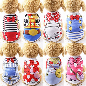 Cartoon Pet Clothes for Dogs and Cats