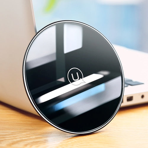 Qi Wireless Glass Charging Pad for iPhone, Samsung and More