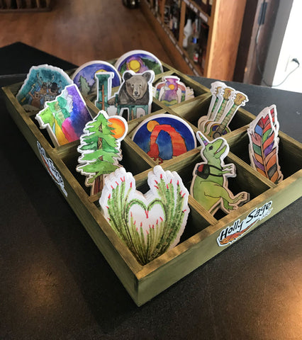 Holly Sage Art Wooden Stand