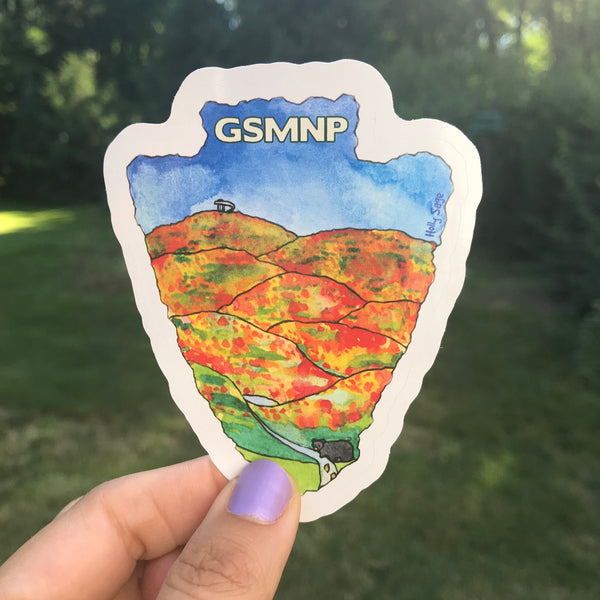 Great Smoky Mountains National Park Arrowhead sticker