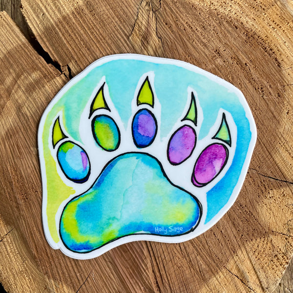 Bear Paw Print Sticker