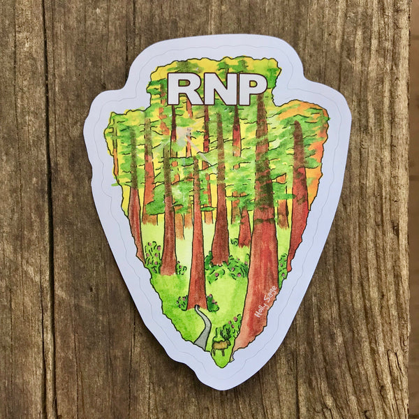 Redwood National Park arrowhead sticker