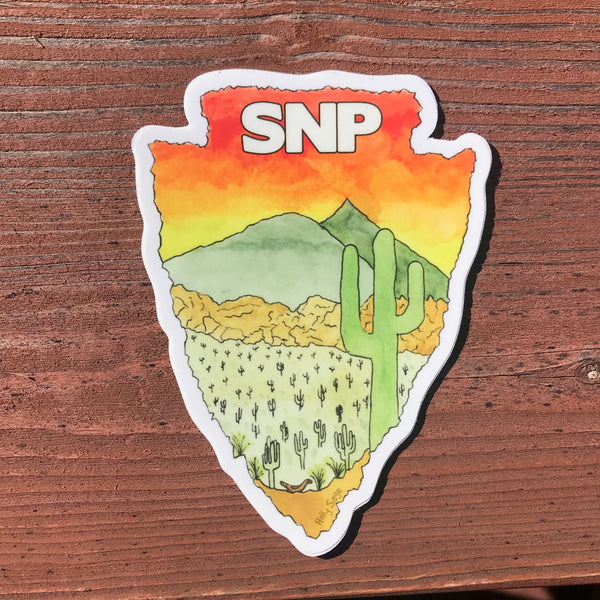 Saguaro National Park arrowhead sticker