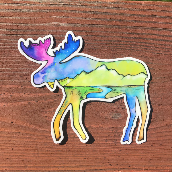 Moosescape Landscape Sticker