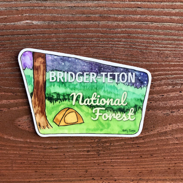 Bridger-Teton National Forest Sign Sticker