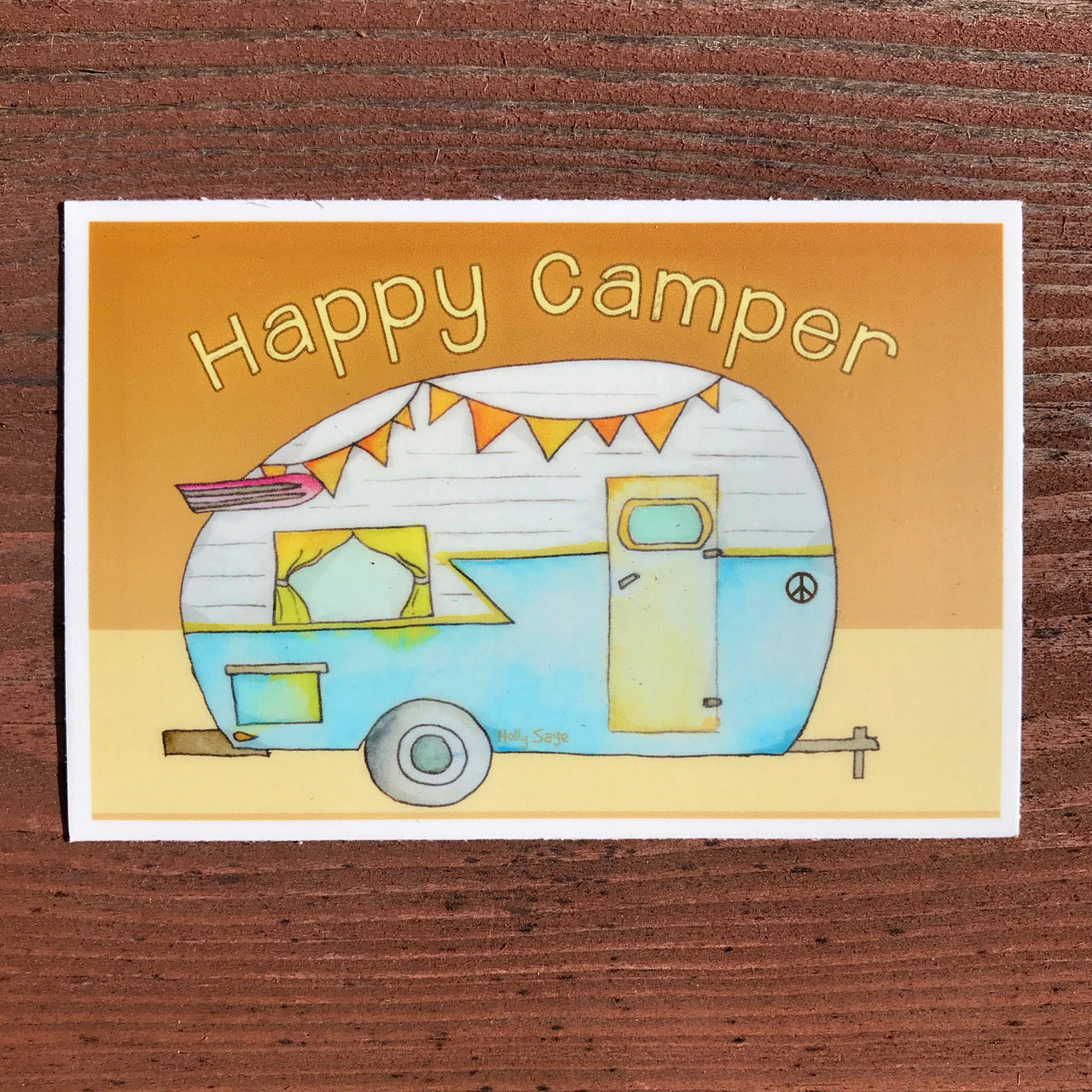 Happy camper trailer sticker