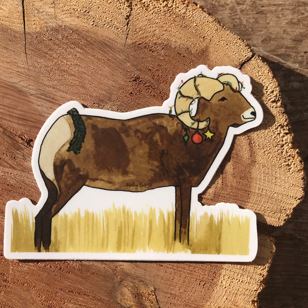 Holiday Bighorn Sticker
