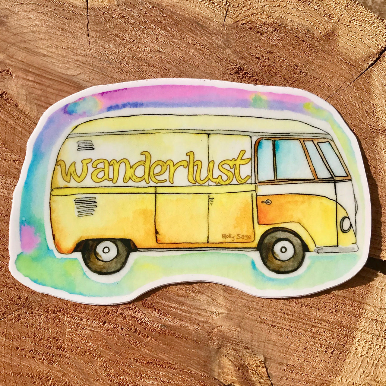 Wanderlust Bus Sticker