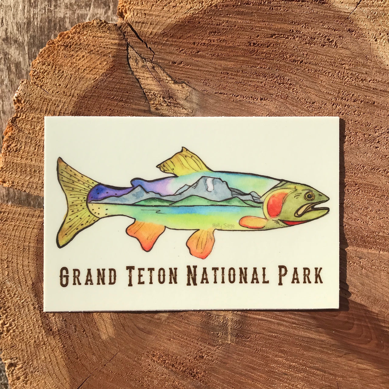 Personalized Cutthroat Catch Sticker
