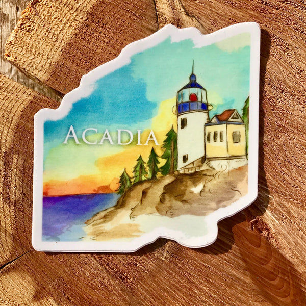 Acadia Lighthouse Sticker