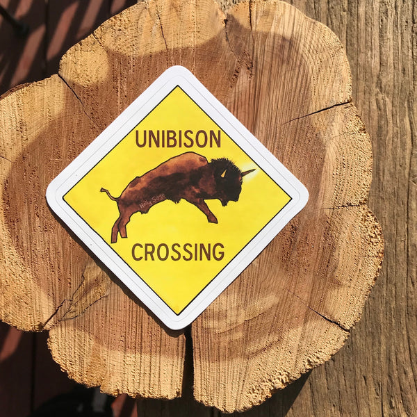 Unibison Crossing Sticker